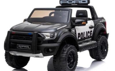 Voiture électrique Police Ford Ranger Raptor Noir enfant