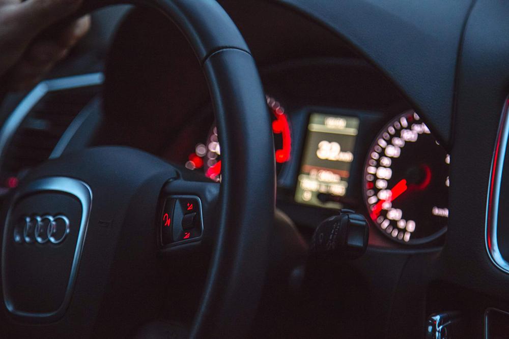 Intérieur d'une voiture Audi